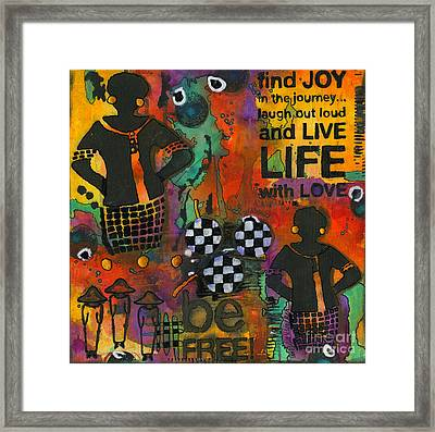 Finding Joy In My Journey Framed Print by Angela L Walker
