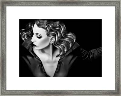 Finding My Light In The Darkness - Self Portrait Framed Print by Jaeda DeWalt