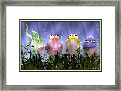 Finding Nemo Figurine Characters Framed Print by Brian Wallace