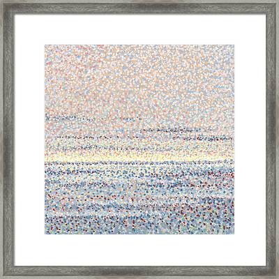 Finding Peace In Gray Framed Print by Rebecca Bangs