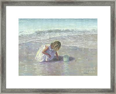 Finding Sea Glass Framed Print