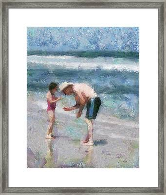 Finding Seashells Framed Print by Francesa Miller