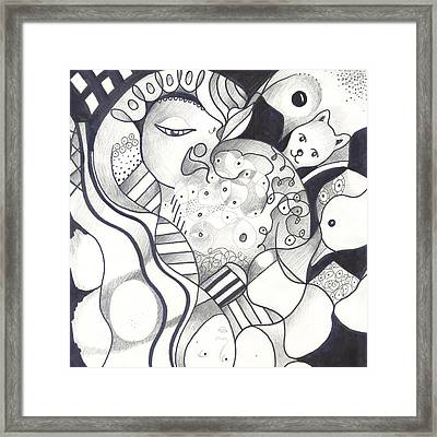 Finding The Goose That Laid The Egg Framed Print by Helena Tiainen