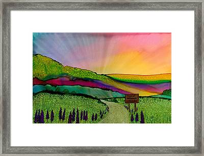 Find The Way Antigonish Ns Framed Print