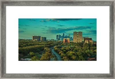 Fine Art America Pic 118 Houston Skyline Framed Print by Darrell Taylor