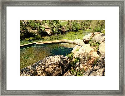 Fine Art America Pic 120 Jacobs Well Park Framed Print by Darrell Taylor