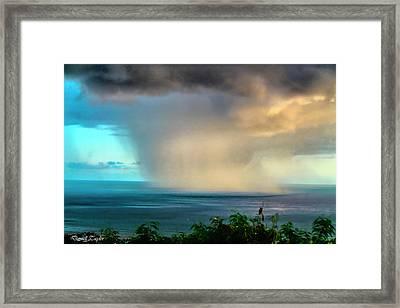 Fine Art America Pic 150 Storm In Kauai Framed Print by Darrell Taylor