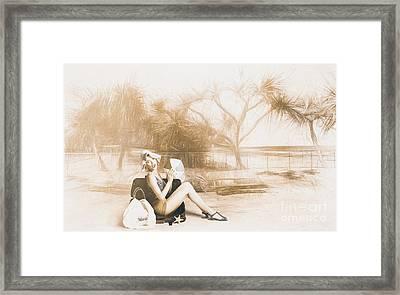 Fine Art Beach Pinup Framed Print