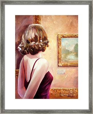 Fine Art Gallery Opening Night Framed Print