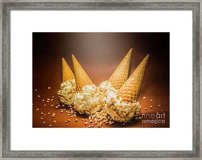 Fine Art Ice Cream Cone Spill Framed Print
