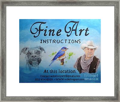 Framed Print featuring the painting Fine Art Instruction by Mike Ivey