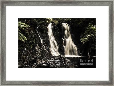 Fine Art Landscape Of A Rainforest Waterfall Framed Print