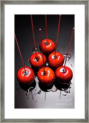 Fine Art Toffee Apple Dessert Framed Print