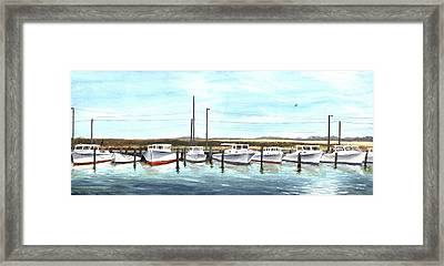 Fine Art Workboats Kent Island Chesapeak Maryland Original Oil Painting Framed Print