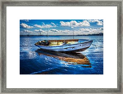 Fine Blue Morning Framed Print by Debra and Dave Vanderlaan