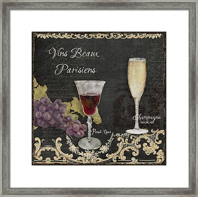 Fine French Wines - Vins Beaux Parisiens Framed Print