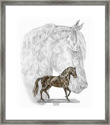 Fine Steps - Paso Fino Horse Print Color Tinted Framed Print
