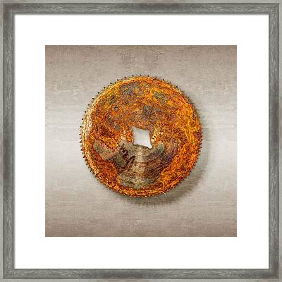 Fine Tooth Sawblade Framed Print by YoPedro