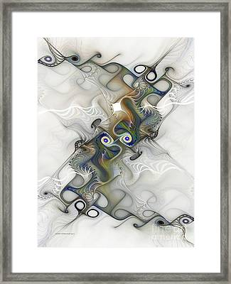 Framed Print featuring the digital art Fine Traces by Karin Kuhlmann