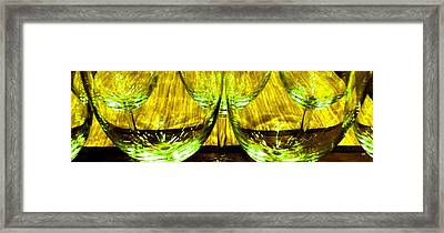 Fine Wine And Dine 4 Framed Print by Will Borden