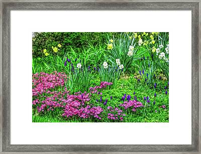 Framed Print featuring the photograph Fine Wine Cafe Garden Escape by Aimee L Maher Photography and Art Visit ALMGallerydotcom