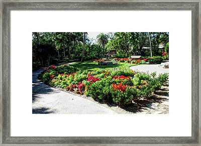 Framed Print featuring the photograph Fine Wine Cafe Garden Park by Aimee L Maher Photography and Art Visit ALMGallerydotcom