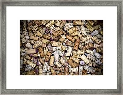 Fine Wine Corks Framed Print