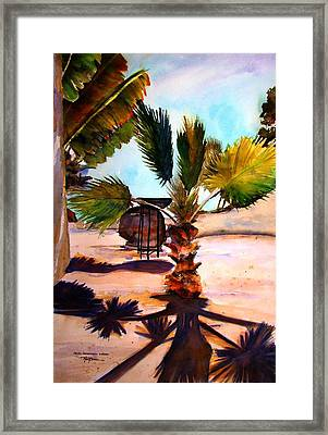 Framed Print featuring the painting Finesterra by Marti Green