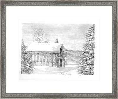 Finger Lake Barn Framed Print