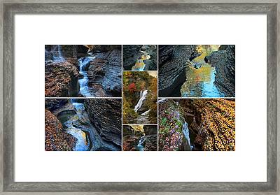 Finger Lakes Gorges Collage Framed Print by Jessica Jenney
