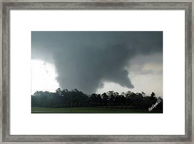 Finger Of God Framed Print by Rick Lipscomb