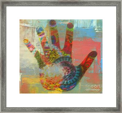 Finger Paint Framed Print by Kelly Awad