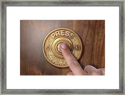 Finger Pressing Doorbell Framed Print