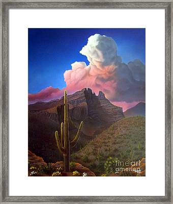 Finger Rock Sunset Framed Print