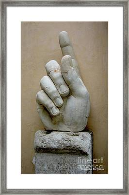 Finger -rome Framed Print by Italian Art