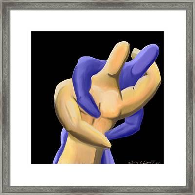 Fingermen Wrestling Framed Print