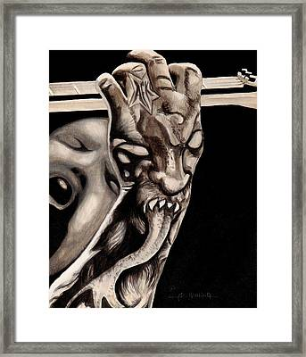 Fingers From Hell Framed Print by Al  Molina