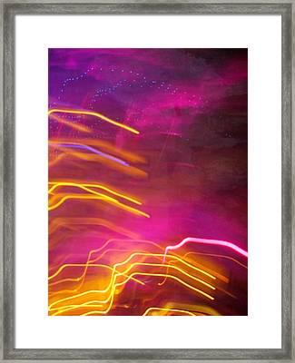 Fingers Of Light Framed Print by Lessandra Grimley