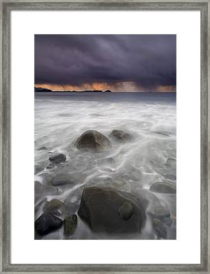 Fingers Of The Storm Framed Print by Mike  Dawson