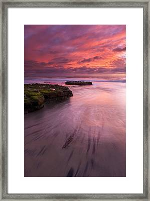 Fingers Of The Tide Framed Print by Mike  Dawson