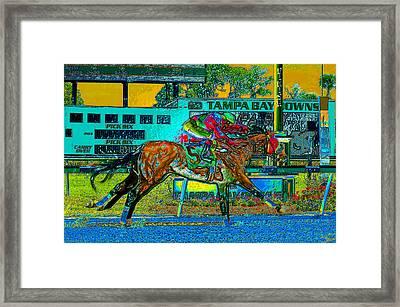 Finish Line Framed Print by David Lee Thompson