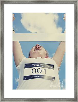 Finish Line Frontrunner Framed Print