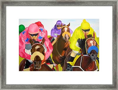 Finish Line Framed Print by Michael Lee