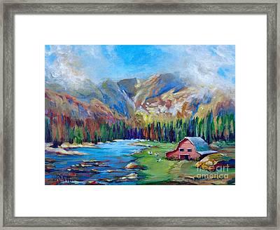 Finished Highlands Framed Print by Vanessa Hadady BFA MA