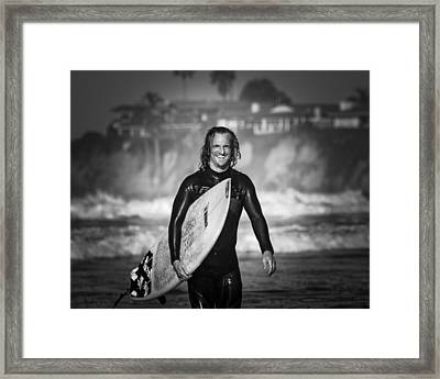 Finished Surfing Framed Print by Brian Jones
