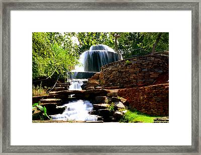 Framed Print featuring the photograph Finlay Park Columbia Sc Summertime by Lisa Wooten