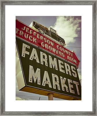 Finley Ave Farmer's Market Framed Print