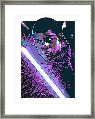 Framed Print featuring the digital art Finn by Antonio Romero