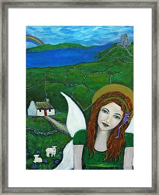 Fiona An Irish Earthangel Framed Print by The Art With A Heart By Charlotte Phillips