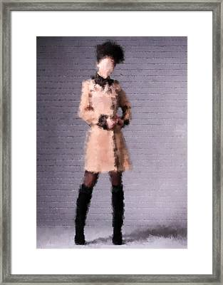 Framed Print featuring the digital art Fiona by Nancy Levan